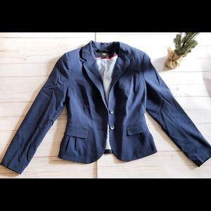 H&M Navy blue lined blazer size 6